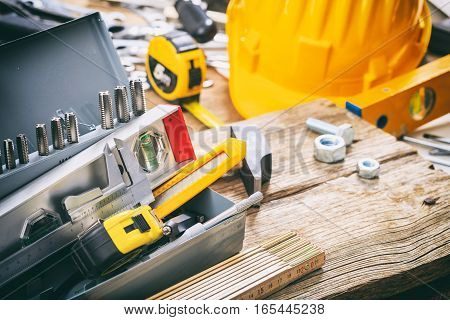 Hand Tools In A Metal Box