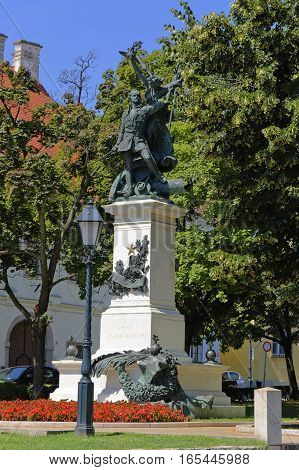The monumet of Independence War in Budapest