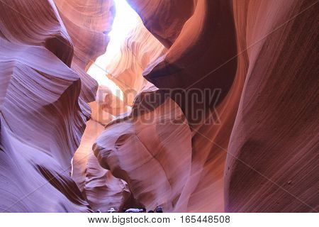 Antelope canyon  The national park of  Antelope canyon in America