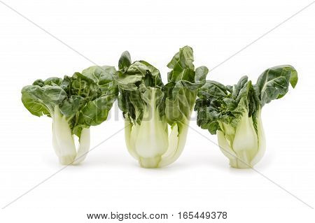 Bok Choy Vegetable Isolated On The White Background