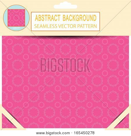 Vector seamless abstract light pink pattern in the package with pattern unit and shadow.