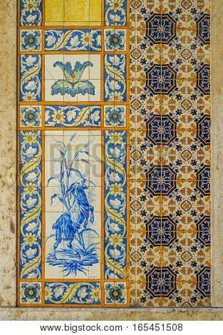 Azulejos Tiles In Lisbon