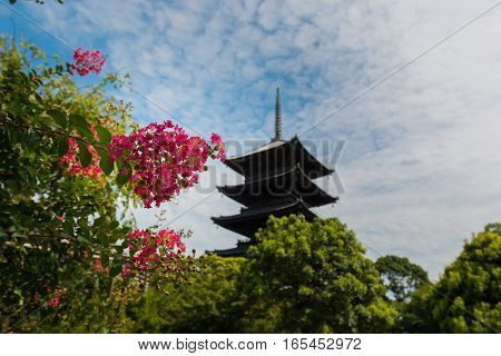 Toji Temple Is A Buddhist Temple Of The Shingon Sect In Kyoto, Japan.