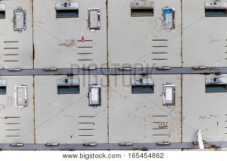 The Rusted Old Cabinet Lockers, Close Up