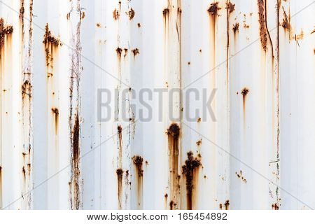 the old rusty container texture and background