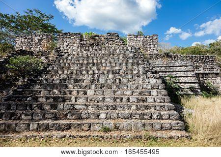 Ruins Of The Ancient Mayan Temple In Ek Balam