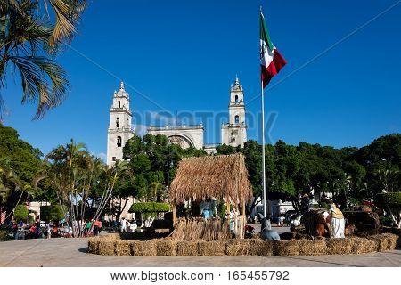 Plaza Grande  In Merida, Yucatan, Mexico