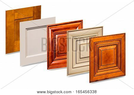 Front kitchen wooden frame cabinet door isolated on white background. Doors, Kitchen Cabinets, Maple