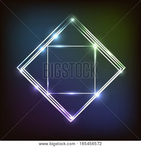 Abstract colorful background with squares, stock vector