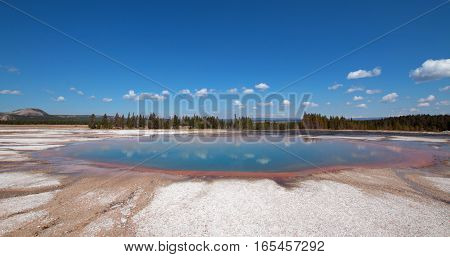 Turquoise Pool in the Midway Geyser Basin in Yellowstone National Park in Wyoming US