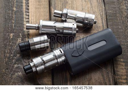 Modern electronic mod vaping device. Vape. ecigarette