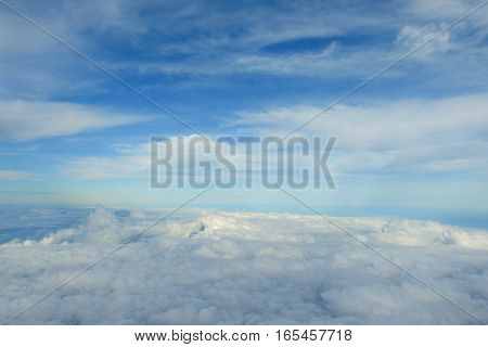 Cloudy Sky And Blue Clear Sky As Carpet Clouds Background,aerial Top View