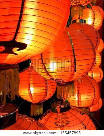 Chinese New Year lantern festival in close up