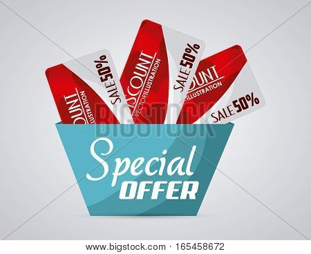 Discount concept with special offer icon design, vector illustration 10 eps graphic.