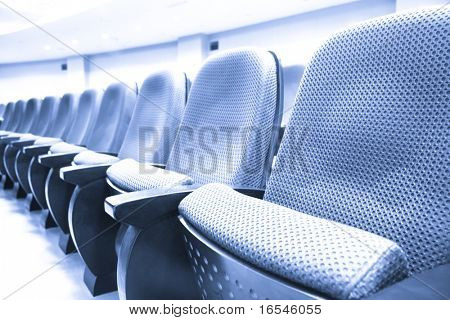 empty seat of the meeting room in shanghai china.