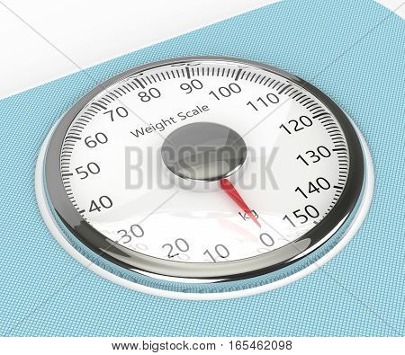 3D Rendering Of Weight Scale Isolated Over White