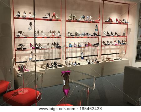 WASHINGTON, DC - January 15, 2016. Sarah Jessica Parker opened her first shoe store on December 9, at the new MGM Grand Hotel and Casino at National Harbor. Doors opened on December 9.