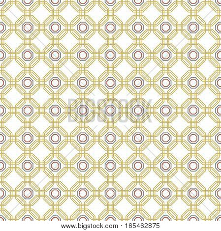 Geometric fine abstract vector golden octagonal background. Geometric abstract ornament. Seamless modern pattern