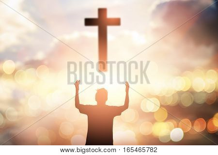 Human raising hands. Mercy Right Trust Catholic Migrant Free Bold God Power Moral Grief Amnesty Triumph Change Black Liberty Religion Answer Prayer Pray Fasting. Worship christian concept background.
