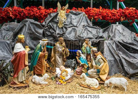 Christmas Nativity scene was on Christmas eve , When a child is born