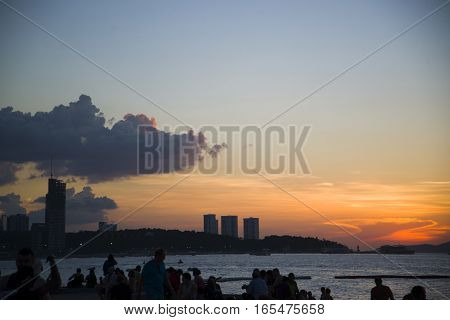 13.11.2014 - Public Beach And The Resort Town Of Pattaya, Thailand - November 13, 2014.