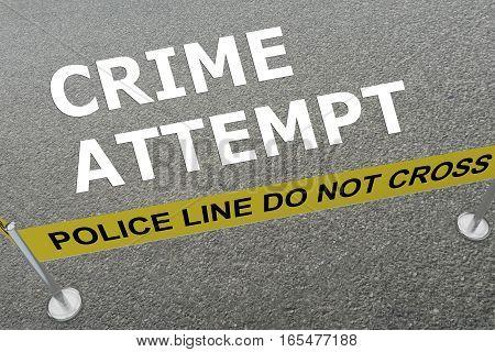 Crime Attempt Concept