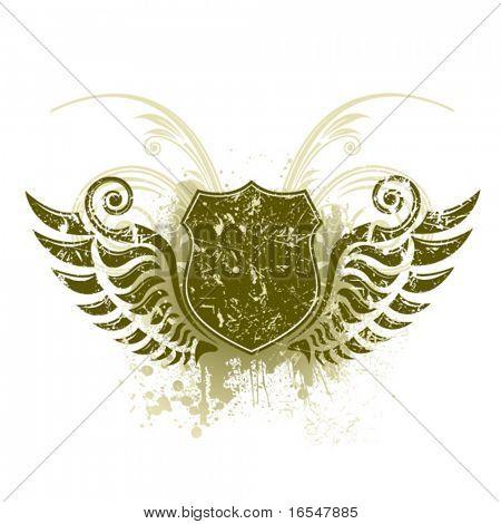 Shield. Vector illustration.