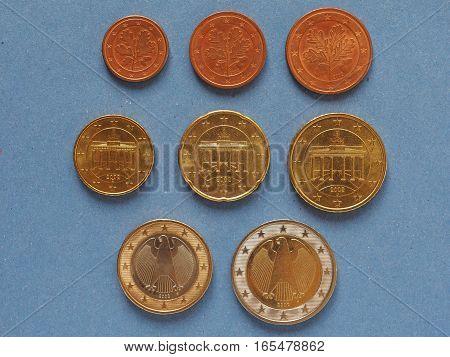 Euro Coins, European Union, German