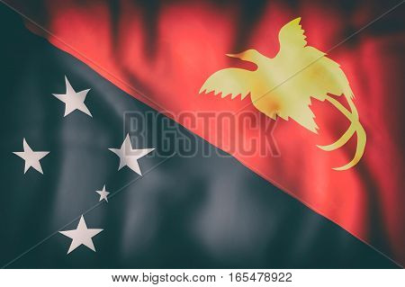 Independent State Of Papua New Guinea Flag