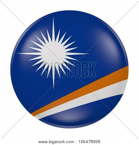 Marshall Islands Button On White Background