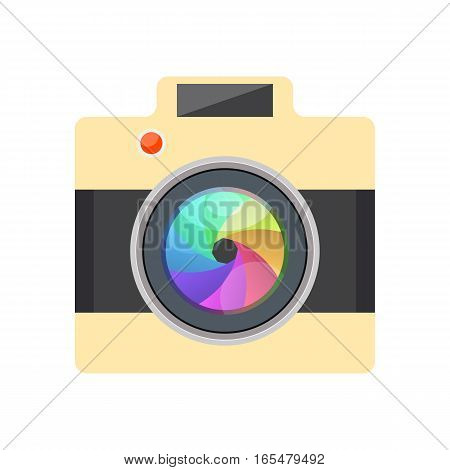 Camera Easy Picture - Vector Illustration - Flat Design - Infographic Element