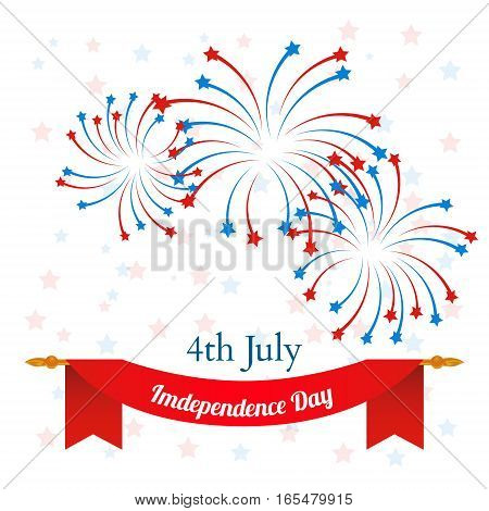 4th of July, American Independence Day celebration background. vector