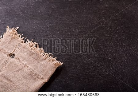 Tablecloth On Dark Background