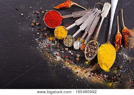 Mix Of Powder Spices