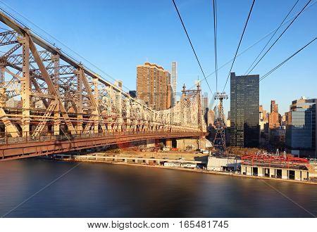 New York City Queensboro Bridge USA at day