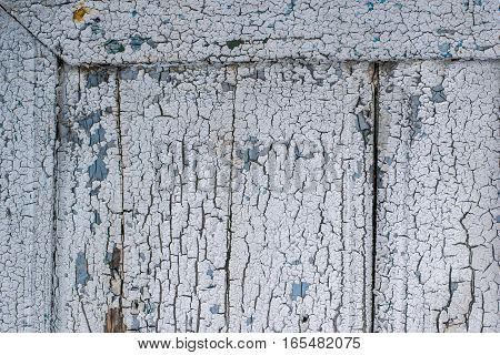 corner detail of old door with grunge surface paint texture