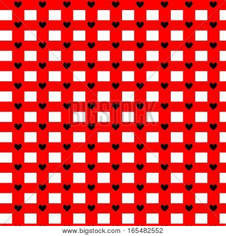 hearts pattern. Vector repeating texture. Valentine's Day
