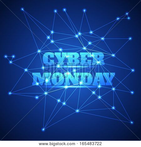 Vector illustration of Cyber monday sale background.