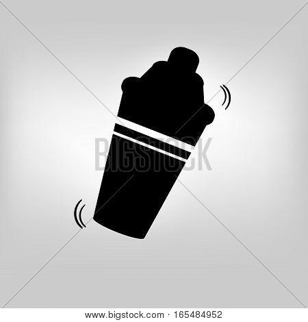 Bar shaker icon on gray background. Vector illustration