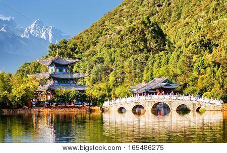 The Suocui Bridge Over The Black Dragon Pool, Lijiang, China