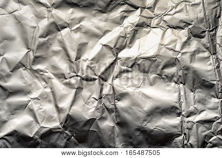 Crushed Tin Foil As An Abstract Textured Background