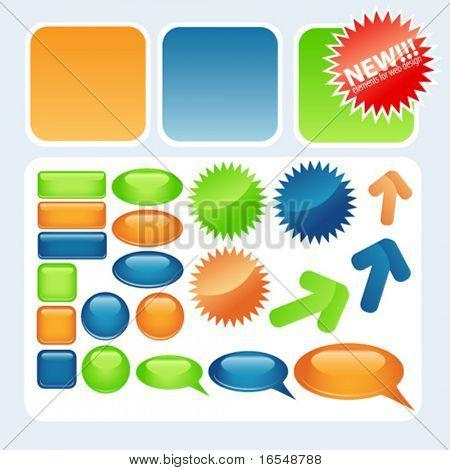 Elementos de vectores para diseño web