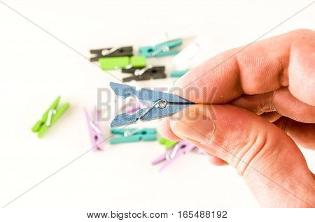 Photo Picture Of Clothespin