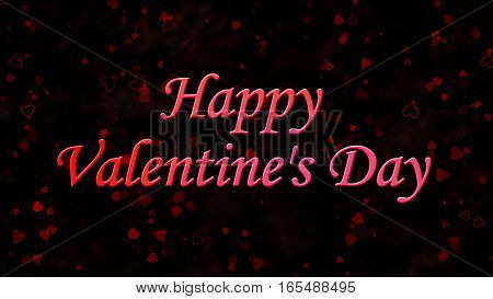 Happy Valentine's Day Text On Dark Background