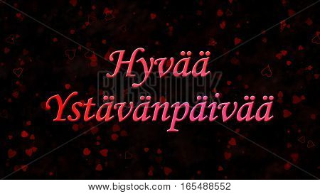 "Happy Valentine's Day Text In Dutch ""hyvaa Ystavanpaivaa"" On Dark Background"