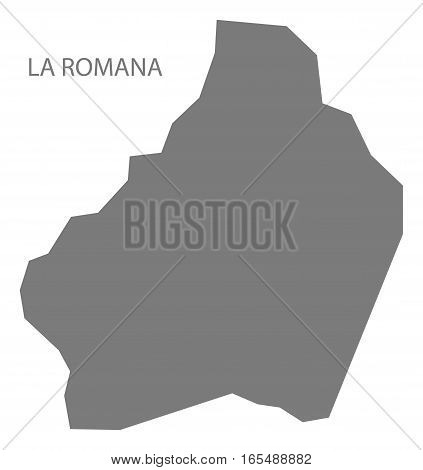 La Romana Dominican Republic Map Grey