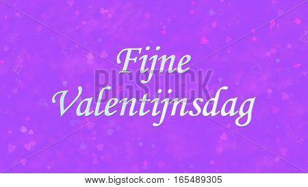 """Happy Valentine's Day Text In Dutch """"fijne Valentijnsdag"""" On Purple Background"""