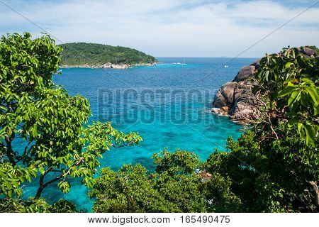 Seascape At Similan Islands In Thailand