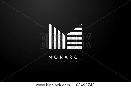 M Logo.M Letter Icon Design Vector Illustration.