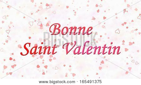 "Happy Valentine's Day Text In French ""bonne Saint Valentin"" On Light Background"